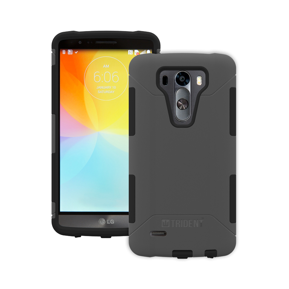 LG G3 Case, Trident [Gray] AEGIS Series Featuring Hardened Polycarbonate Over Silicone Skin Hybrid Case w/ Screen Protector