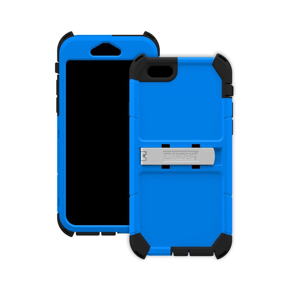 Apple iPhone 6/ 6S Case, Trident [Blue] Kraken AMS Polycarbonate On Silicone Dual Layer Hybrid Case w/ Built-in Screen Protector