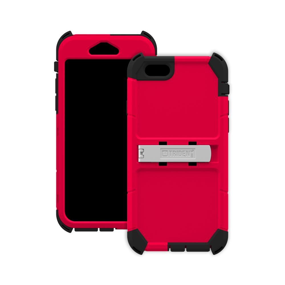 Apple iPhone 6/ 6S Case, Trident [Red] Kraken AMS Polycarbonate On Silicone Dual Layer Hybrid Case w/ Built-in Screen Protector