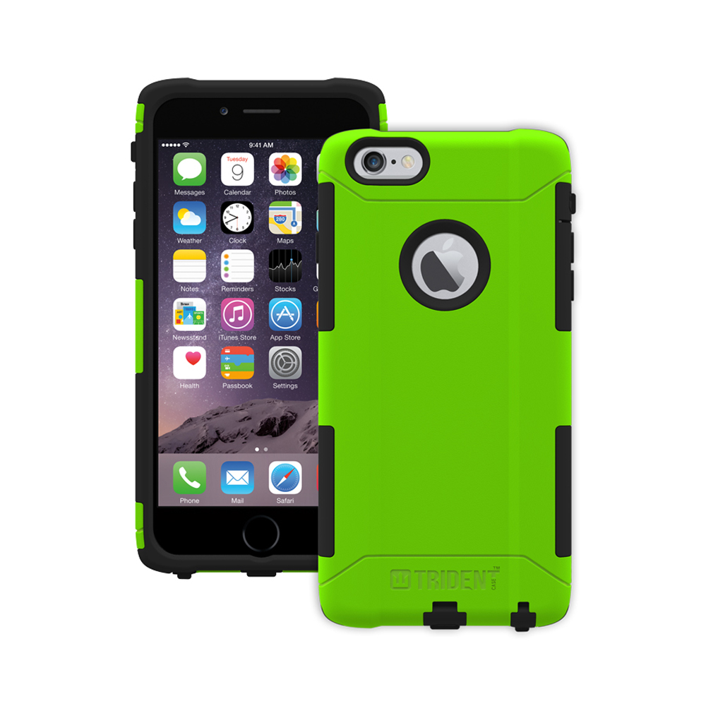 Apple iPhone 6 PLUS/6S PLUS (5.5 inch) Dual Layer Case by Trident [Lime Green] Aegis Series Featuring Hardened Polycarbonate Over Silicone Skin Hybrid Case W/ Screen Protector