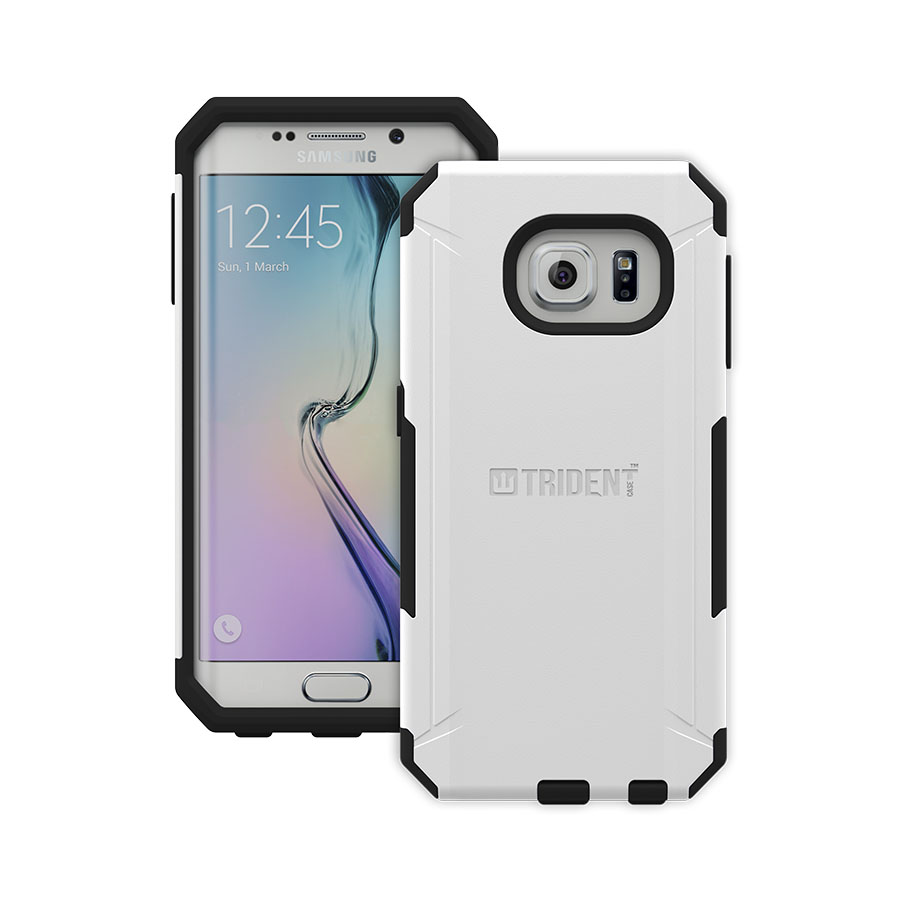 Samsung Galaxy S6 Edge Case, Trident [White] AEGIS Series Featuring Slim & Rugged Hard Case Over Silicone Skin Hybrid Case