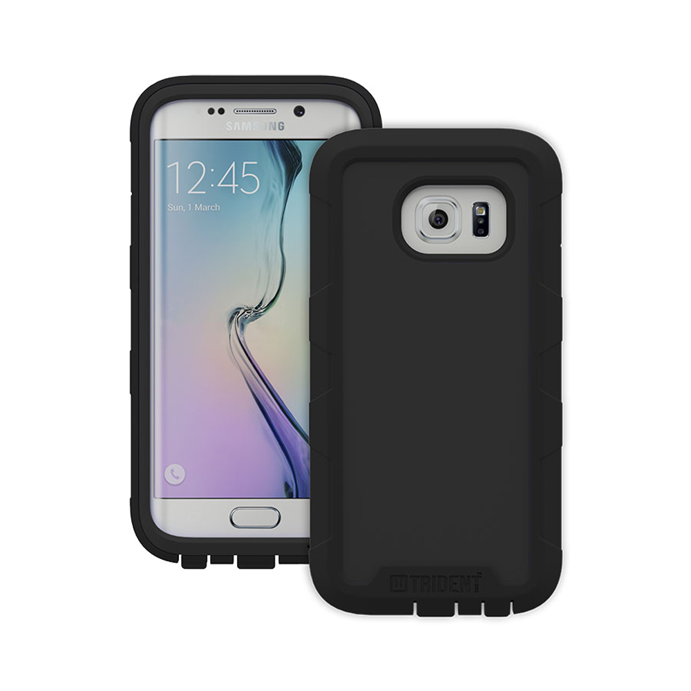 Samsung Galaxy S6 Edge Case, Trident [Black] CYCLOPS Series Rugged Fused Polycarbonate & Thermo Poly Elastomer Hybrid Case