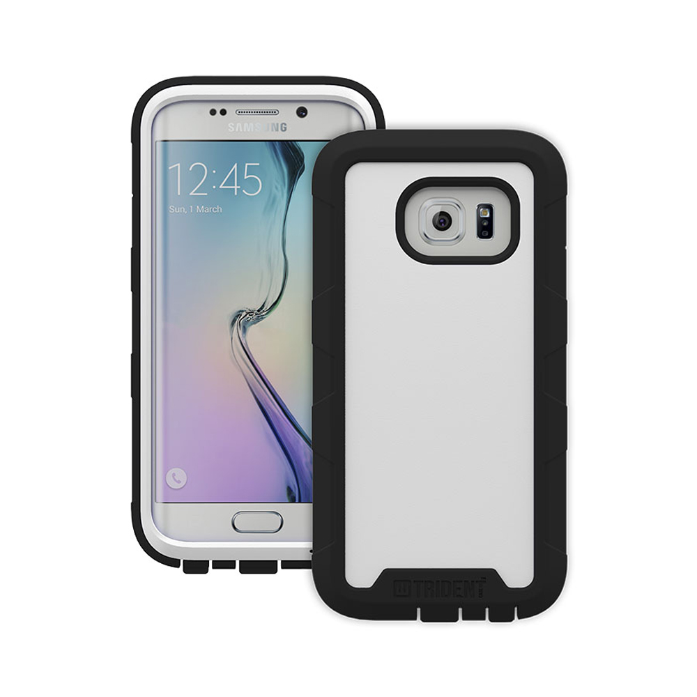 Samsung Galaxy S6 Edge Case, Trident [White] CYCLOPS Series Rugged Fused Polycarbonate & Thermo Poly Elastomer Hybrid Case