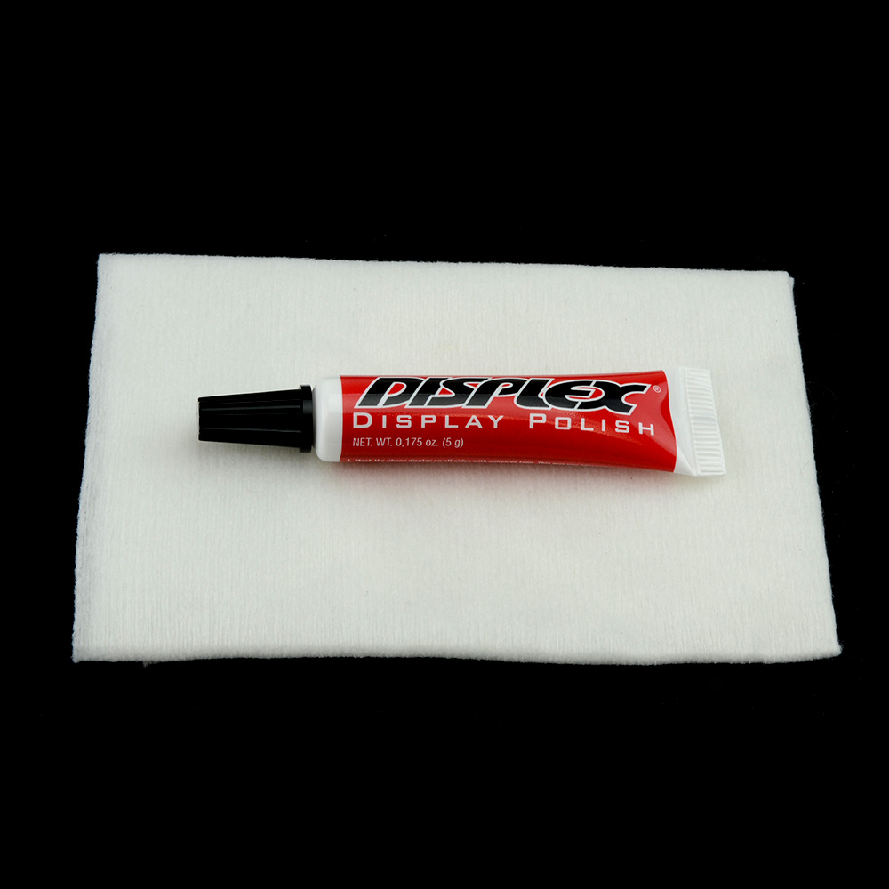 Displex Display Polish Revitalizer Scratch Remover for Cell Phone LCD Screens w/ Microfiber Cloth