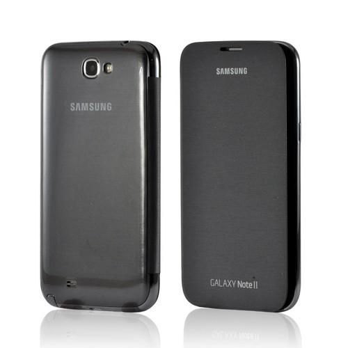 OEM Samsung Silver Flip Cover w/ NFC Technology for Samsung Galaxy Note 2