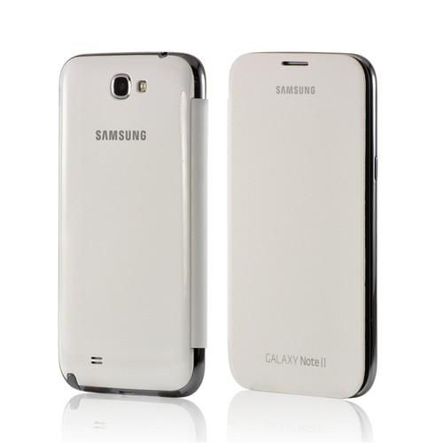 OEM Samsung White Flip Cover w/ NFC Technology for Samsung Galaxy Note 2