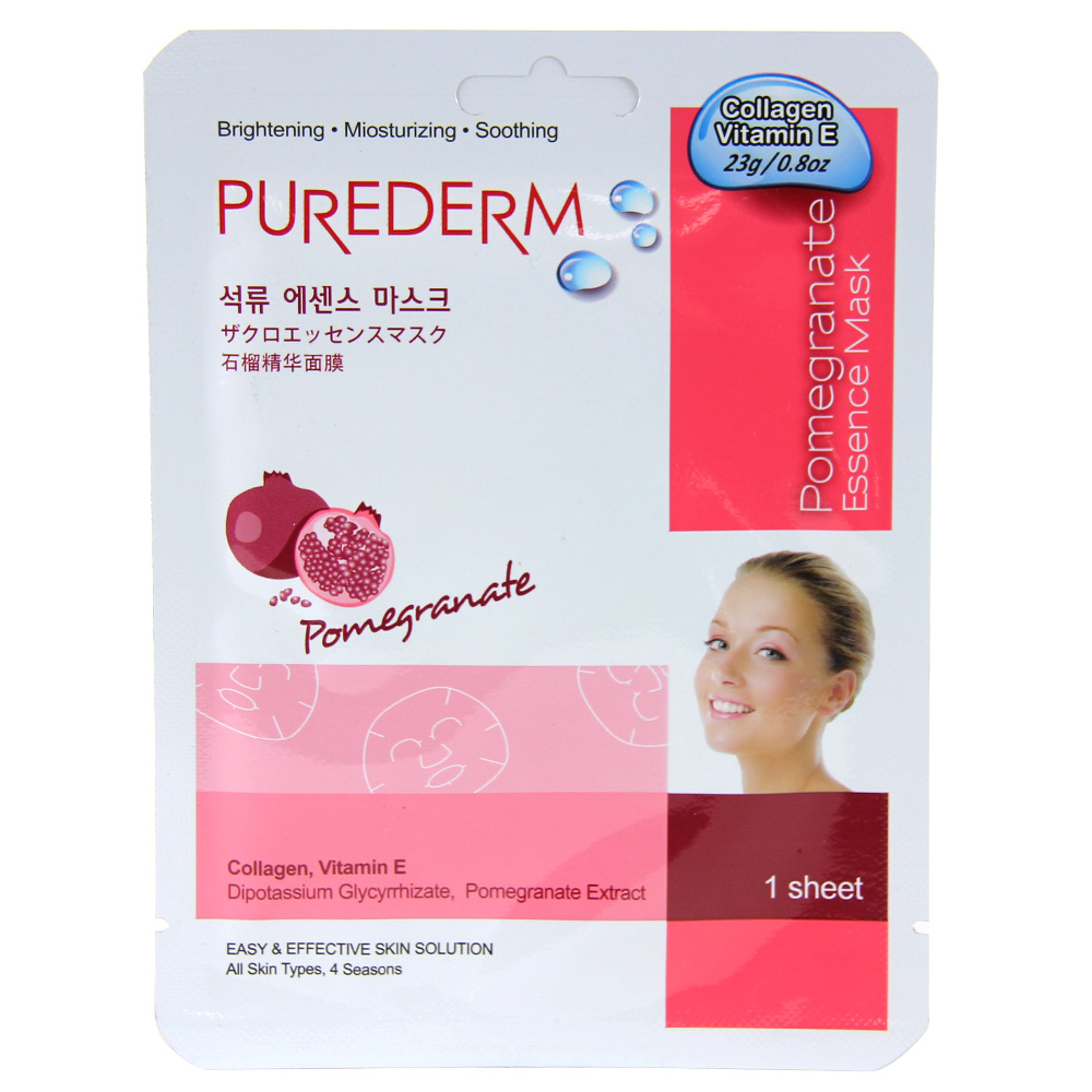Purederm Essence Mask - Pomegranate