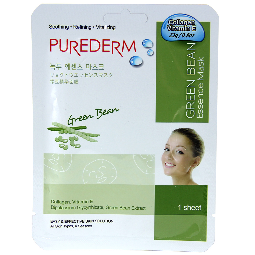 Purederm Essence Mask - Green Bean