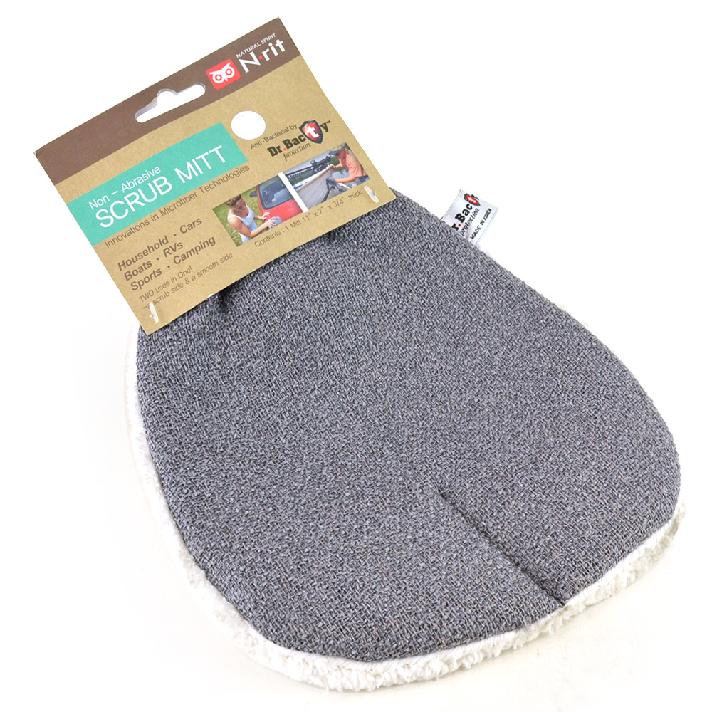 N-Rit Non-Abrasive Microfiber Scrub Mitt - Perfect for Car  Boat  RV's and More!