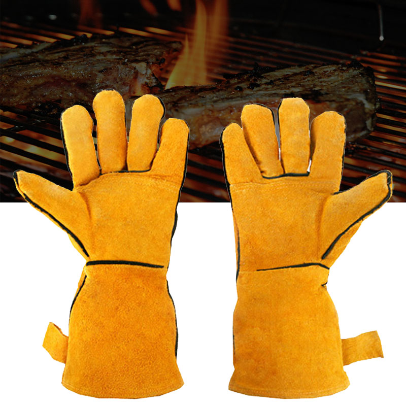 N-Rit BBQ Leather Glove - Great for Oven  Grill  ETC