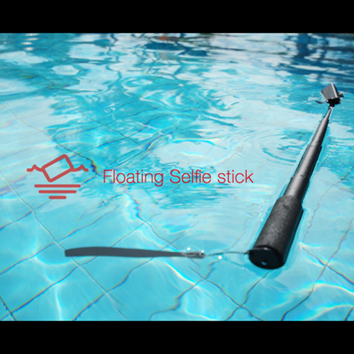 DiCAPac Black Action Floating Waterproof Selfie Stick w/ Bluetooth Version 4.0