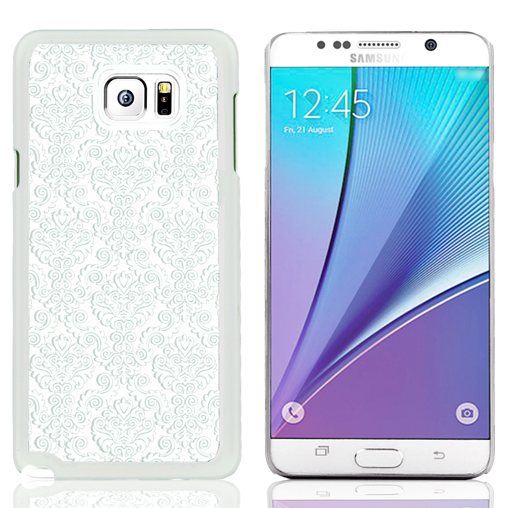 Samsung Galaxy Note 5, [White Lace]  Slim & Protective Rubberized Matte Finish Snap-on Hard Polycarbonate Plastic Case Cover