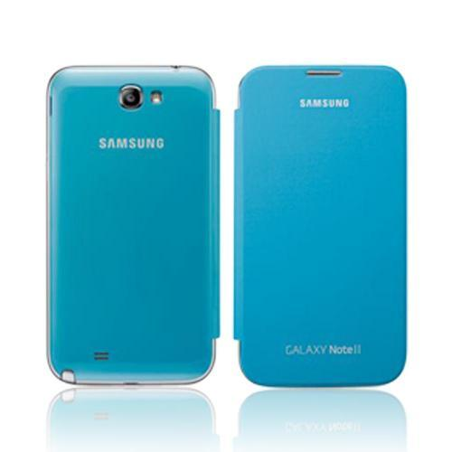 Samsung Light Blue Protective Flip Cover Hard Case for Galaxy Note 2