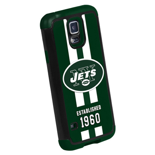 Forever Collectibles NFL New York Jets Dual Hybrid TPU Samsung Galaxy S5 Rugged Case