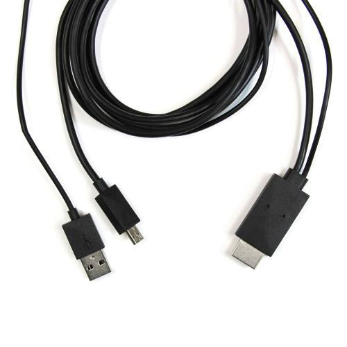 Black MHL Cable for Samsung Galaxy S3/ S4 and Samsung Galaxy Note 2 for use w/ AAXA Pico Projectors