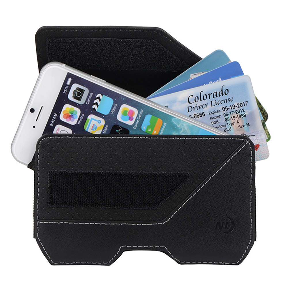 Nite Ize Horizontal Clip Case Executive Holster Pouch [Black] w/ Velcro Closure for Large Devices