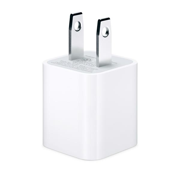 [Apple] 5W USB AC Power Adapter/ Charger for iPhone & iPod - A1265 [White]