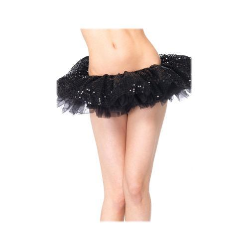 LegAvenue Halloween Costume Sequin Tulle Tutu - Black