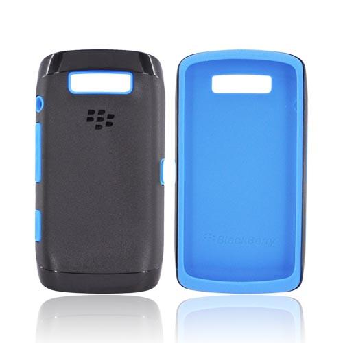Original Blackberry Torch 9860, 9850 Hard Cover Over Silicone Case, ACC-38964-302 - Blue/ Black