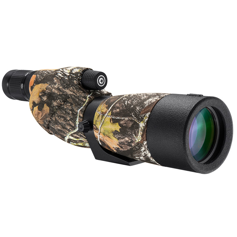 Barska 20-60X65 WP Level Straight Spotting Scope w/ Tripod, Soft and Hard Carrying Case [Mossy Oak] [AD12358]