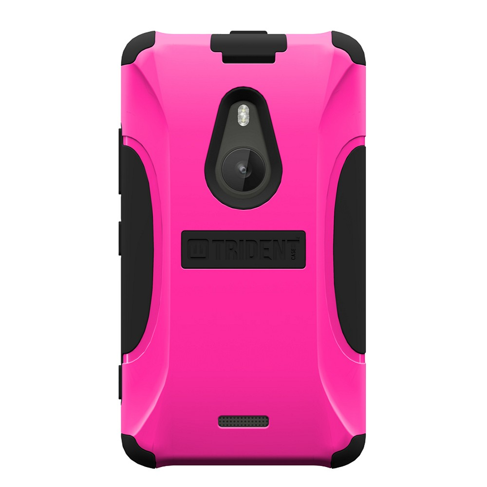 Trident Hot Pink/ Black Aegis Series Hard Cover on Silicone Skin Case w/ Screen Protector for Nokia Lumia 925 - AG-NOK-LUMIA925-PNK