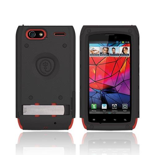 Original Trident Kraken AMS Motorola RAZR Hard Case on Silicone w/ Screen Protector, Kickstand, & Belt Clip, AMS-RAZR-RD - Red/ Black