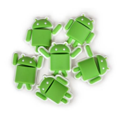 Original Android Foundry Green/White 6 Piece Vinyl Magnet Set