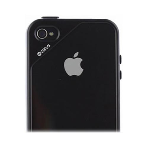 Original Zenus AT&T/ Verizon Apple iPhone 4, iPhone 4S Air Bumper Mask Hard Case w/ Screen Protector, APIP4-BB2BA-BKBK - Black