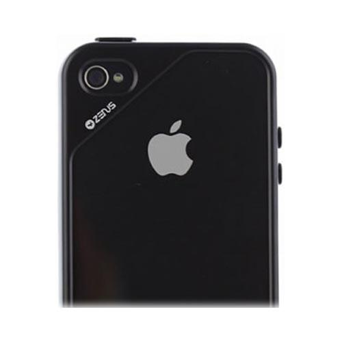 Original Zenus AT&T/ Verizon Apple iPhone 4, iPhone 4S Air Bumper Mask Hard Case w/ Screen Protector, APIP4-BB2BA-BKBW - Brown/ Black