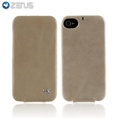 Original Zenus AT&T/ Verizon Apple iPhone 4, iPhone 4S E'stime Leather Bar Series Case, APIP4-ELLBA-LK - Light Khaki