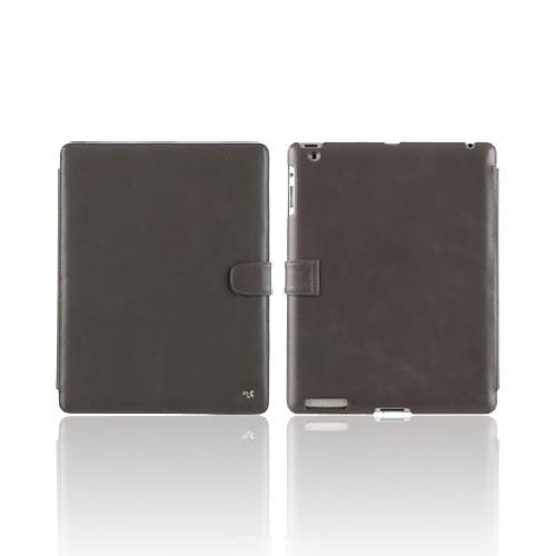 Original Zenus Apple iPad 2 E'stime Band Series Leather Stand Case, APPD2-ELLBD-GY - Gray