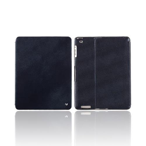 Original Zenus Apple iPad 2 Prestige Pearl Lizard Stand Series Leather Case Stand, APPD2-PL5ST-BB - Blue Black