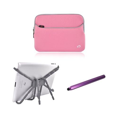 Asus Transformer Essential Bundle Package w/ Pink Nylon Sleeve, Purple Metal Pen Stylus & Spider Podium Stand