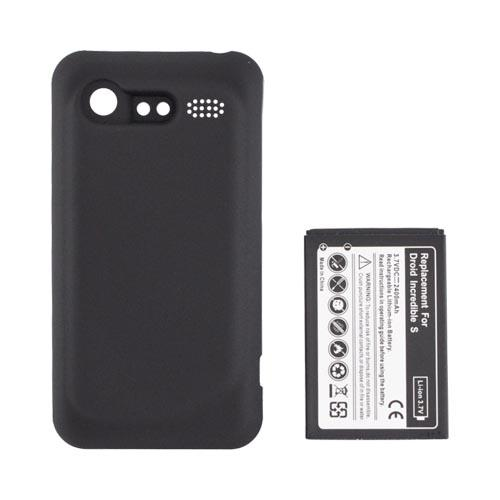 HTC Droid Incredible 2 Extended Battery & Door (2400 mAh) - Black