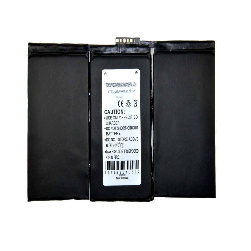 Apple iPad 2nd Gen Battery, Internal Lithium-Polymer Replacement Battery [6500 mah] - A1395/ A396/ A1397/ A1376