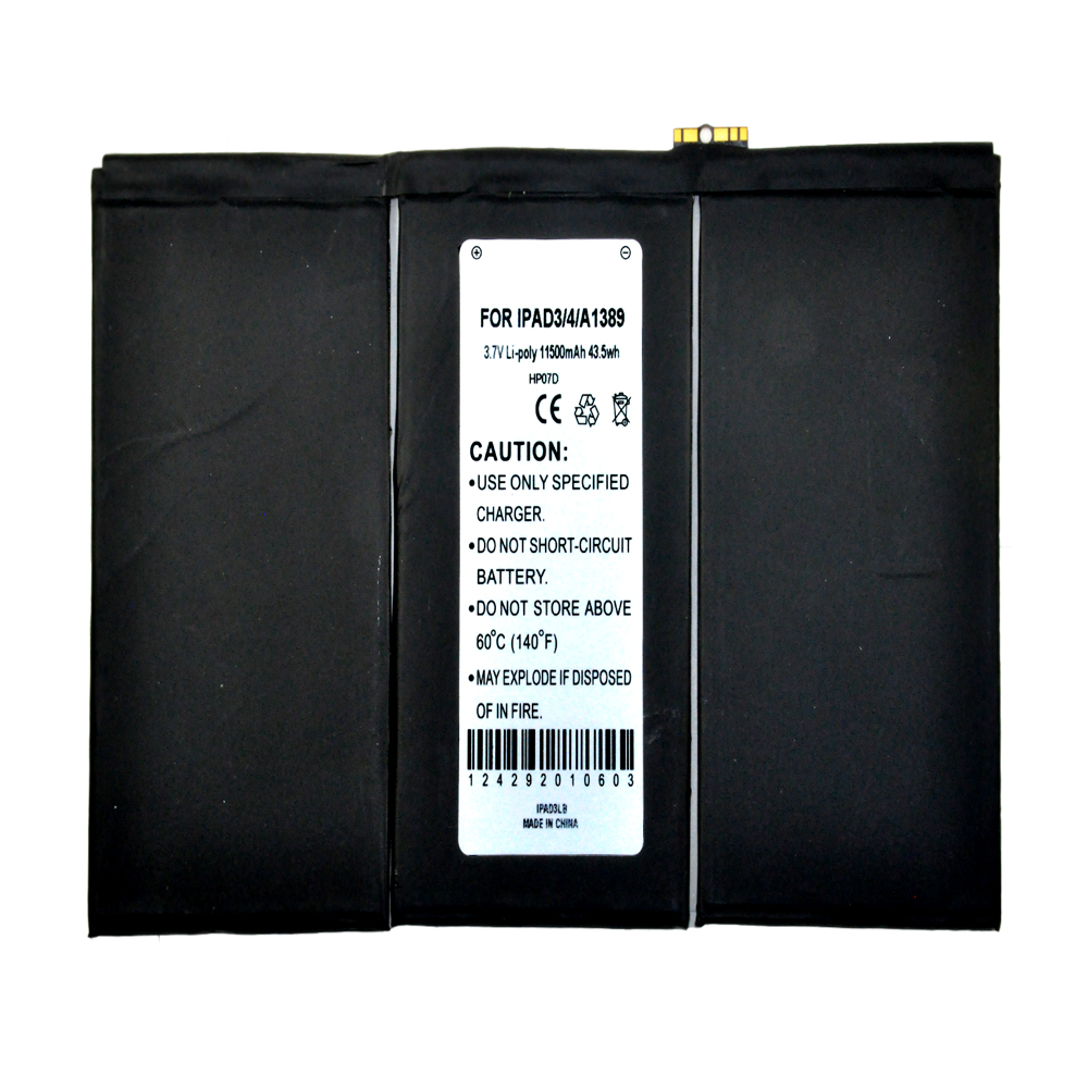 Apple iPad 3/4 Battery, Internal Lithium-Polymer Replacement Battery [11500 mah] - A1389