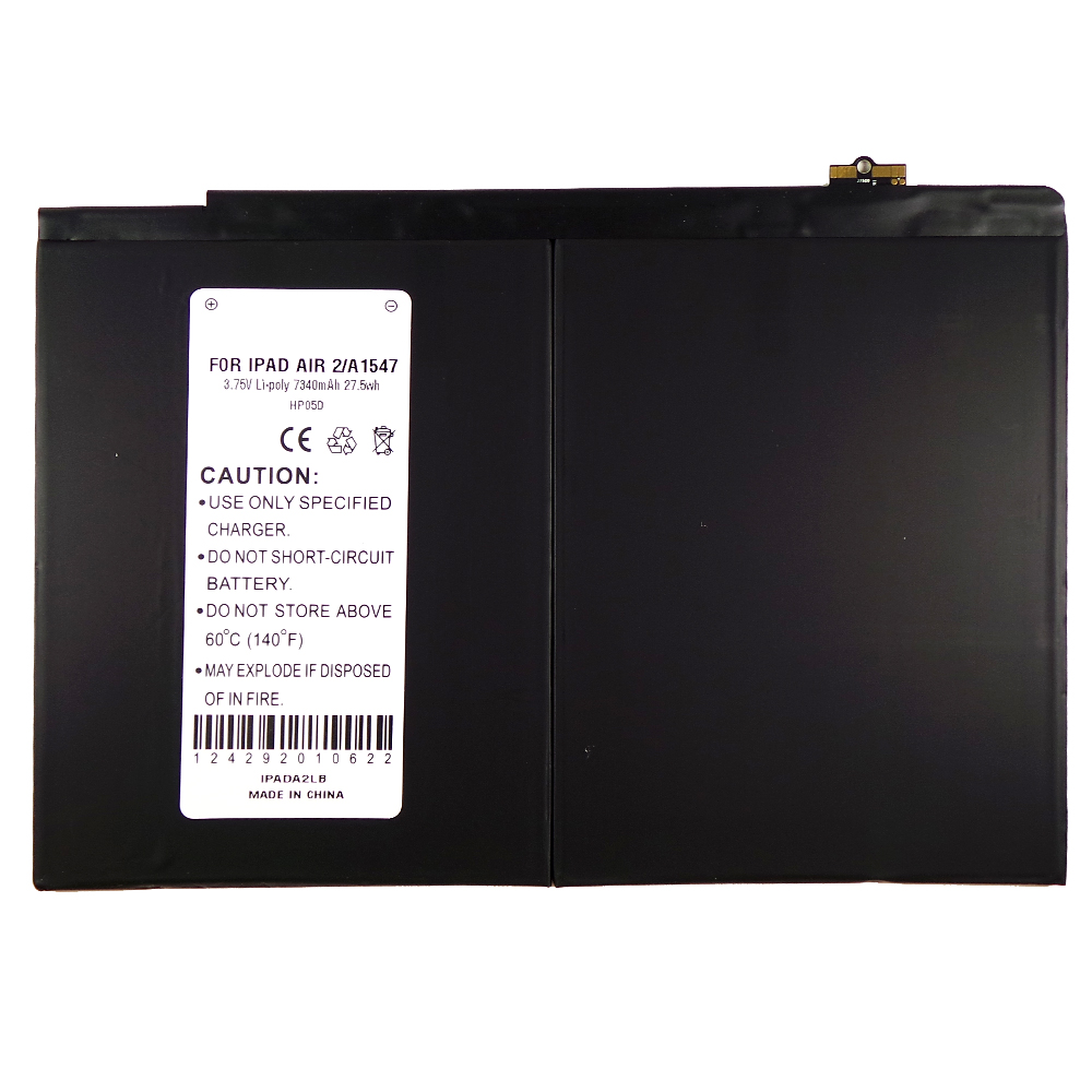 Apple iPad Air 2 Battery, Internal Lithium-Polymer Replacement Battery [7340 mah] - A1547