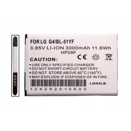 LG G4 Battery, Standard Replacement Lithium-ion Battery [3000 mah]