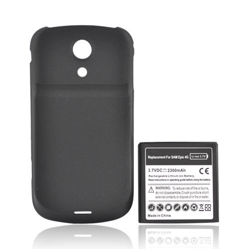 Samsung Epic 4G Extended Battery w/ Rubberized Door, 2300mAH - Black