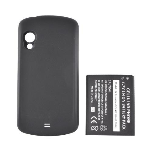 Samsung Stratosphere i405 Extended Battery (3000 mAh) w/ Rubberized Back Door - Black