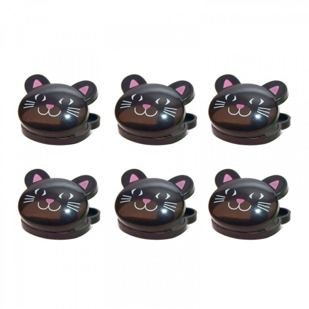 [Kikkerland] Kitty Cat Bag Clips [Black] - Set of 6!