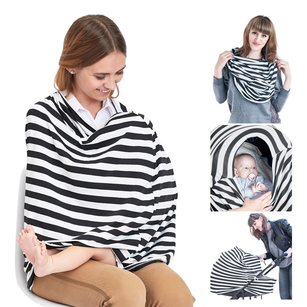 Eutuxia Nursing Scarf, Breastfeeding Cover. Great for Car Seat & Stroller Canopy. Breathable, Lightweight, and Stretchy Premium Material. Essential Item for Infant Nursery. Perfect Baby Shower Gift.