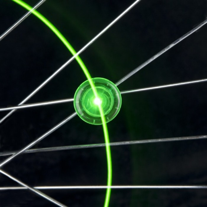 Mini LED Spoke Lights - Mini LED Spoke Wire Light, Be Seen at Night! Easy to Attach and Remove! [2 Pack Green]