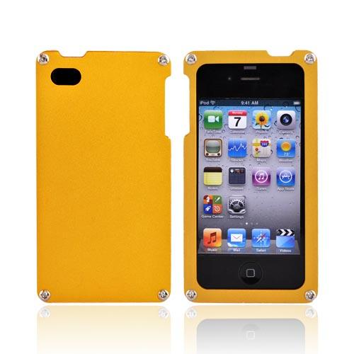 Original BNA Nature AT&T/Verizon Apple iPhone 4, iPhone 4S Aluminum Hard Case & Screen Protector, Exclusively from AccessoryGeeks! BNA-004 - Gold