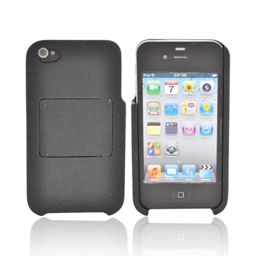 Exclusive iPhone 4/4s Wood Case by TPhone [Black Sonokeling Wood] Hand-finished Wood Hard Case Stand W/ Screen Protector