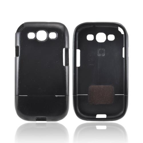 Exclusive Tphone Eco-Design Samsung Galaxy S3 Hand-Finished Wood Sliding Frame Case - Black Sonokeling Wood