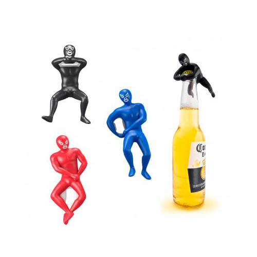 [Kikkerland] Luchador Bottle Openers [Assorted Colors] - 3 Pack!
