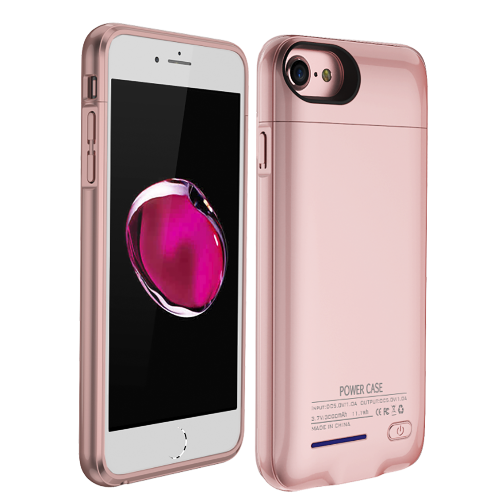 Made for Apple iPhone 8/7/6S/6 Charging Case, [3000mAh] Rechargeable External Power Battery Charging Case [Rose Gold] by Redshield