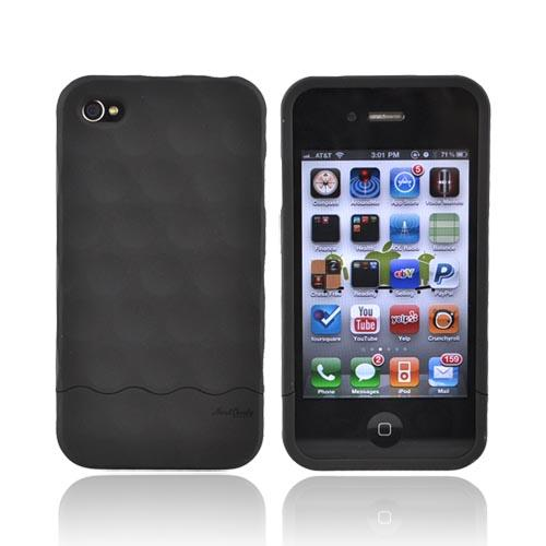 Original Hard Candy Rubberized Bubble Slider Apple iPhone 4 Rubberized Hard Case, BS4G-SFT-BLK - Black