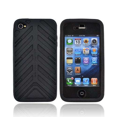 Original Case-Mate Apple iPhone 4 Torque Silicone Case w/ Screen Protector, CM011806 - Black on Black